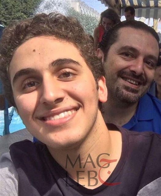 Selfie: Lebanese PM Saad Hariri with his eldest son Houssam Hariri