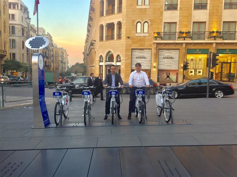 First Bike Sharing Station in Beirut (Beirut, Lebanon)