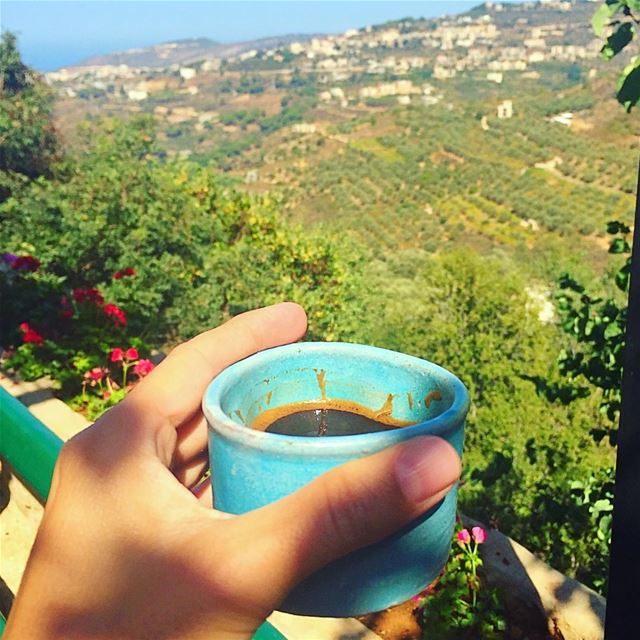Hand made in heaven  artisanal  coffee  cup  pottery  handmade  chouf ... (Bkerzay)