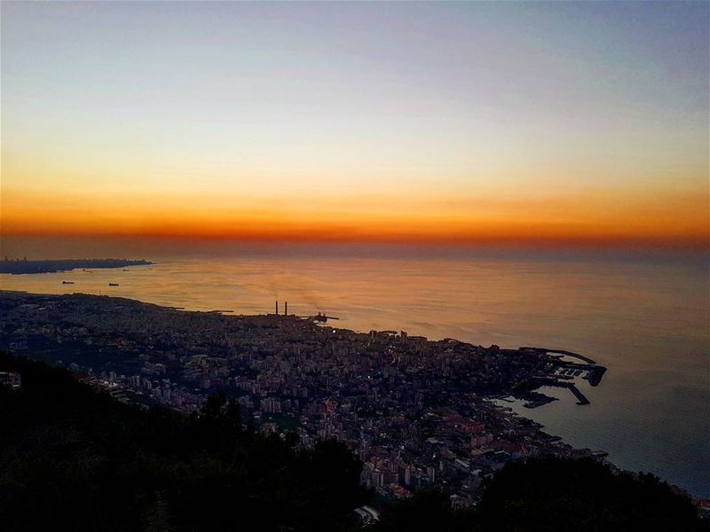 sunset  fromharissawithlove  amazingview  blessedplace  ourladyoflebanon ... (سيدة لبنان حريصا)