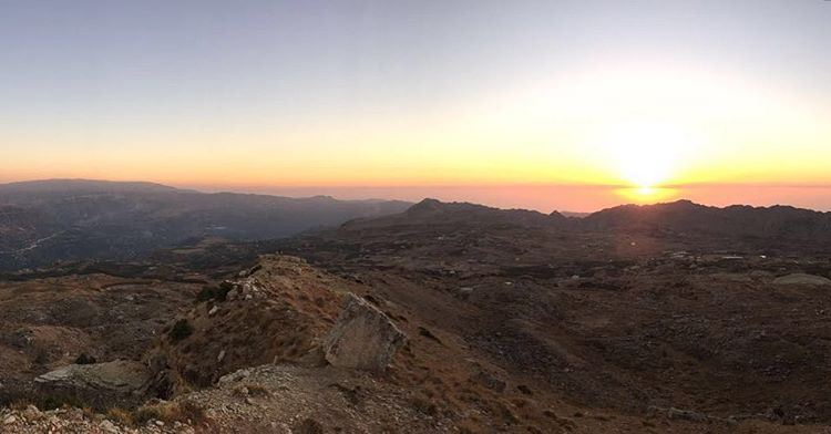 mountlebanon  nofilter  sunset  lebanonbeauty  hiking ... (Jroud Akoura)