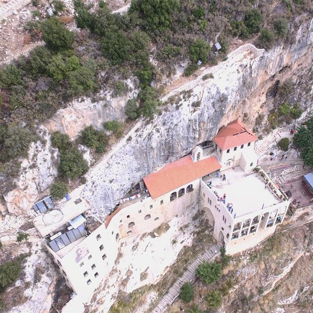 Lebanon from the sky series; an hour hike up to Deir Hamatoura (Hamatoura... (Hamatoura Monastery)