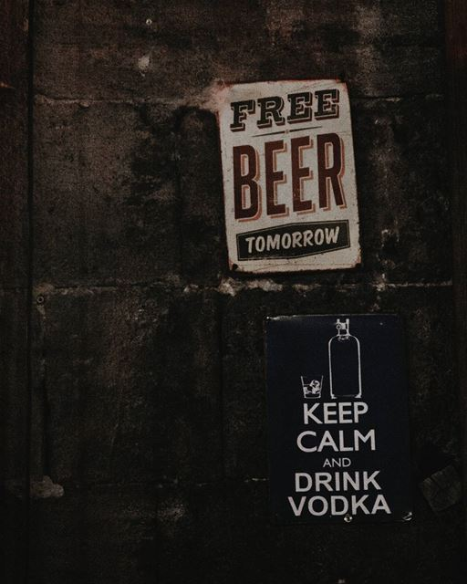 Keep Calm ✌️ From  LaStoria  Pub  Bar  Signs  Photography ... (Byblos, Lebanon)