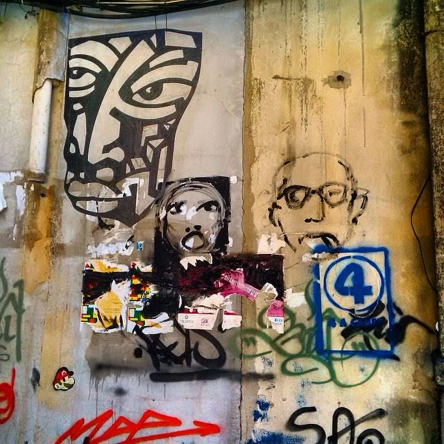 The National Identity  manyfaces  beirut  lebanon  streetart  wallart ...