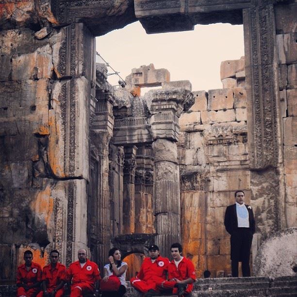 Have a nice weekend  baalbeck  festival  opera  red  cross  lebanon_hdr ...