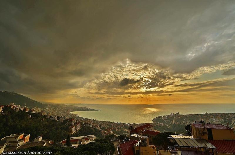 I can't give you the sunset, but I can give you the night!  sunset ... (Ghazir, Mont-Liban, Lebanon)