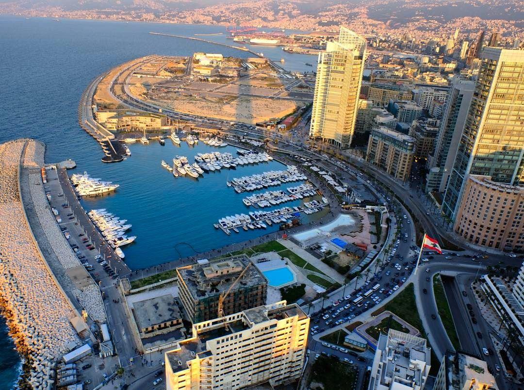 Sunset over Beirut Marina travel sunset spring beirut ...