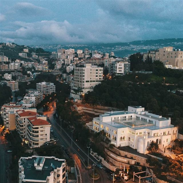 Hadat; Baabda at sunset  sunset  photography  beirut  livelovebeirut ... (Université Antonine - UA)