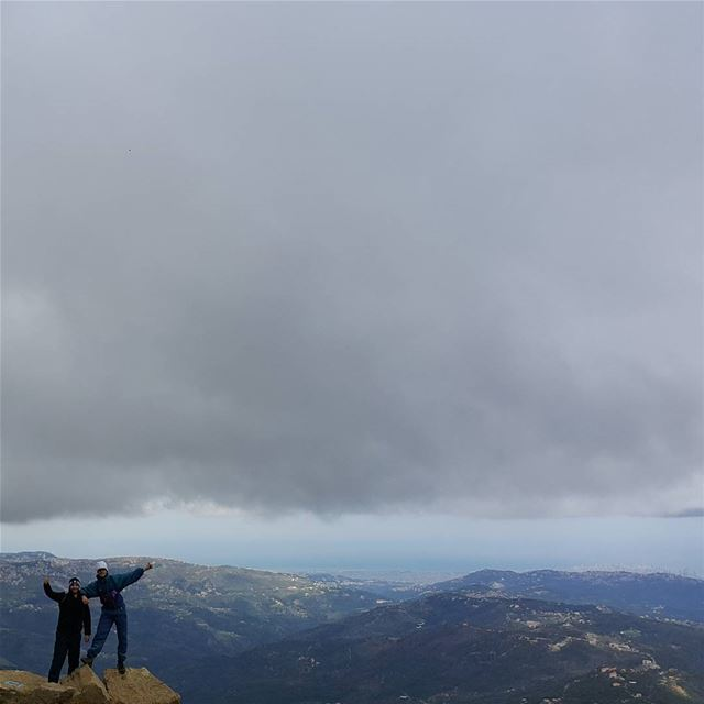 One last pose before the storm hits summit  Lebanon  naturelovers ...