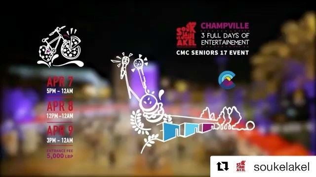 @soukelakel champville here we come! Metn will be on fire this weekend,... (Champville)