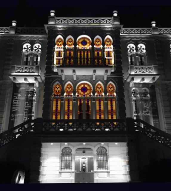 Good night 🌟 ....... architecture  archilovers  archidaily ... (Sursock Museum)