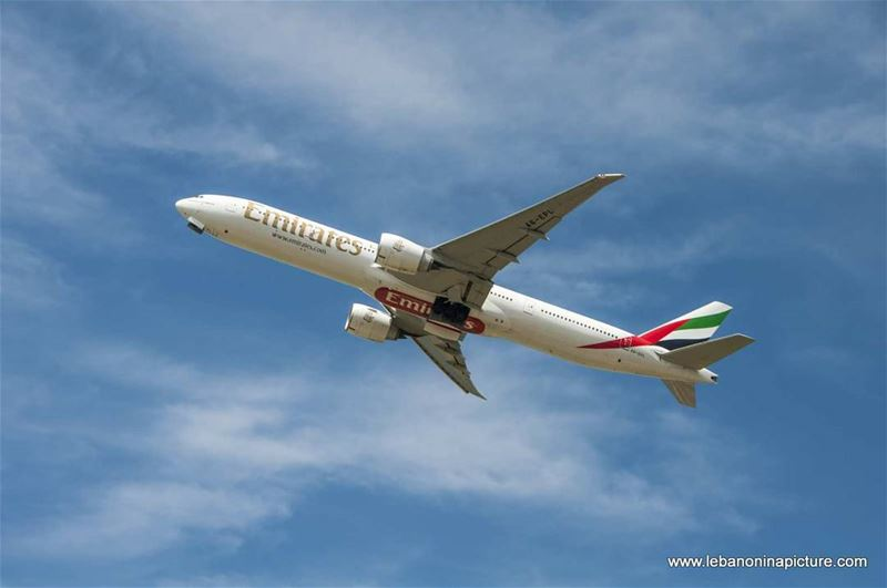 @emirates airplane soon after takeoff  lebanoninapicture ... (Beirut–Rafic Hariri International Airport)