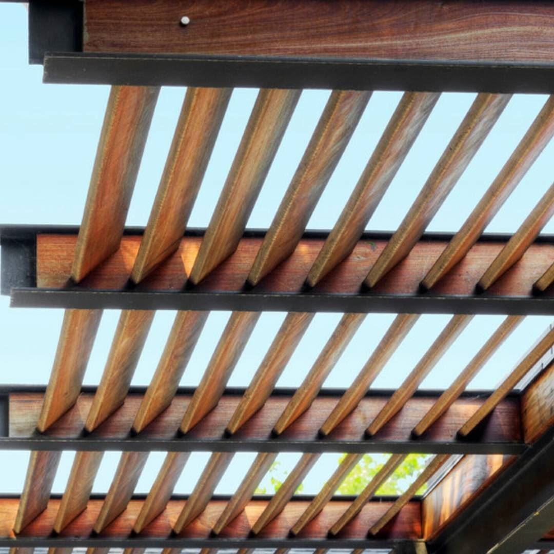 backyard patio pergola wood lebanon teak louvers patio  (bsalim