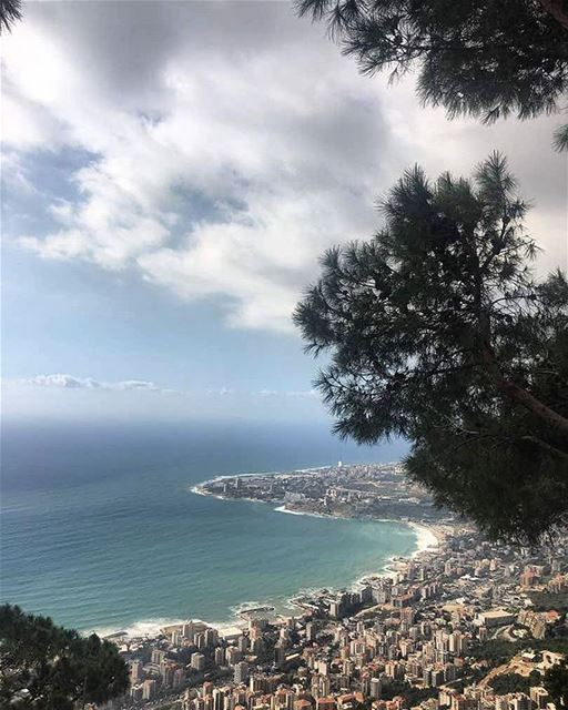 Our Lovely Lebanon 💙 From Harissa-Jounieh by @esraa__ghoul ...