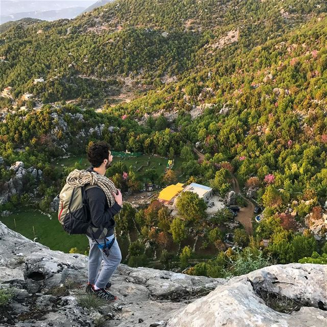 Everyone needs a hike and a climb every once in a while-📷@nady83-... (Chahtoul Camping)