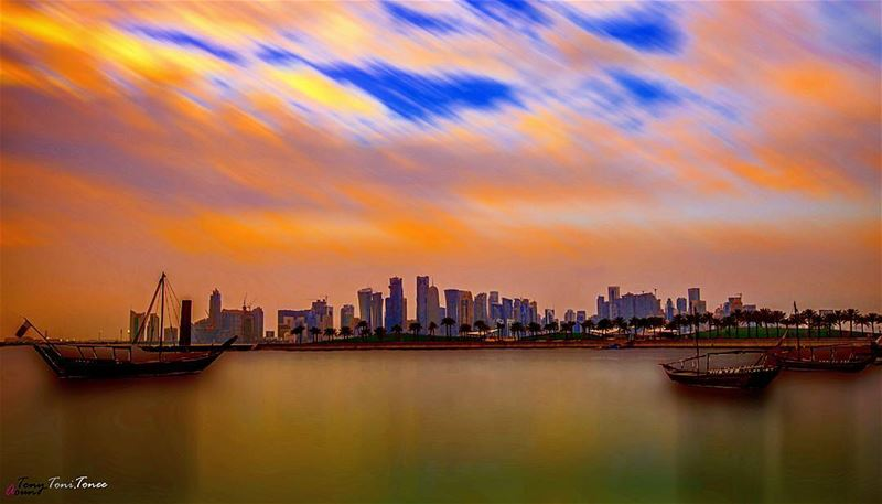 Sometimes silence is better than a thousand word ... !!!  doha  qatar ... (Doha Corniche)