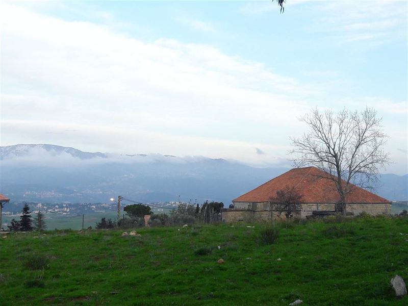 tb  spring  good  times  Beautiful  view  fog  mountain  green  field ... (Marjayoûn, Al Janub, Lebanon)