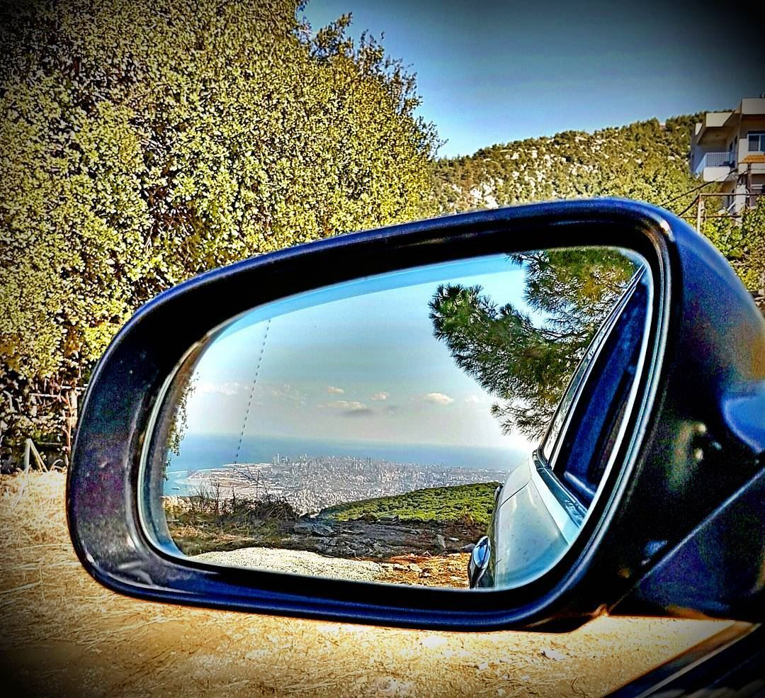 Beirut reflected on my side mirror reflection car mirror for Mirror reflection