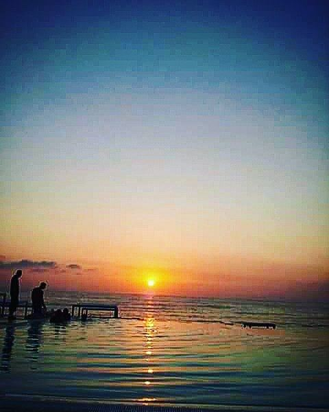 Amazing sunset relax  sunset  beach  wine  horizon  livelovelebanon ...