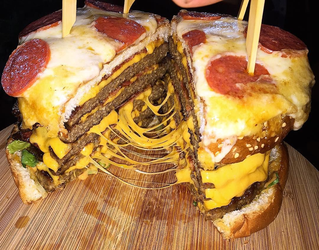 CHOLESTEROL PIZZA BURGER🍕 🍔 chezchakour lebanon food ...
