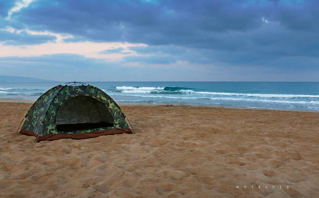 •we did it• photooftheday  camping  campingout  morning  beach ... (Tyre, Lebanon)