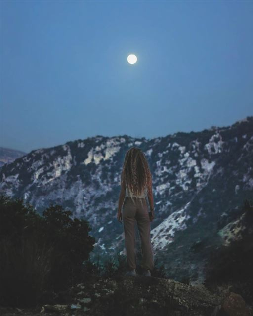 She Wolf 🐺... mountains  mountain  moon  photography ...