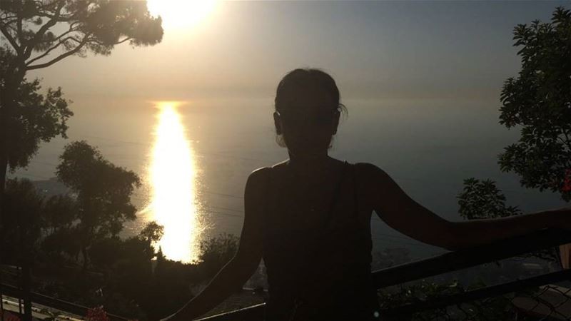 One summer night in Lebanon sunset throwback horizon sillouette me ... (Harisa, Mont-Liban, Lebanon)