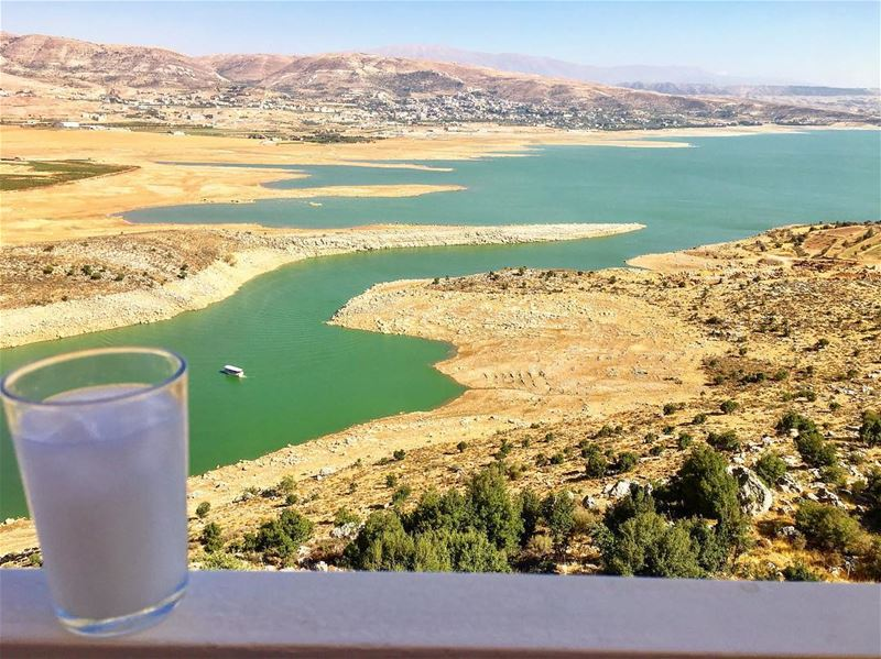 Ready for the weekend??? 🍻 🍻  insta_lebanon  ig_lebanon  lebanon_hdr ... (Lake Qaraoun)