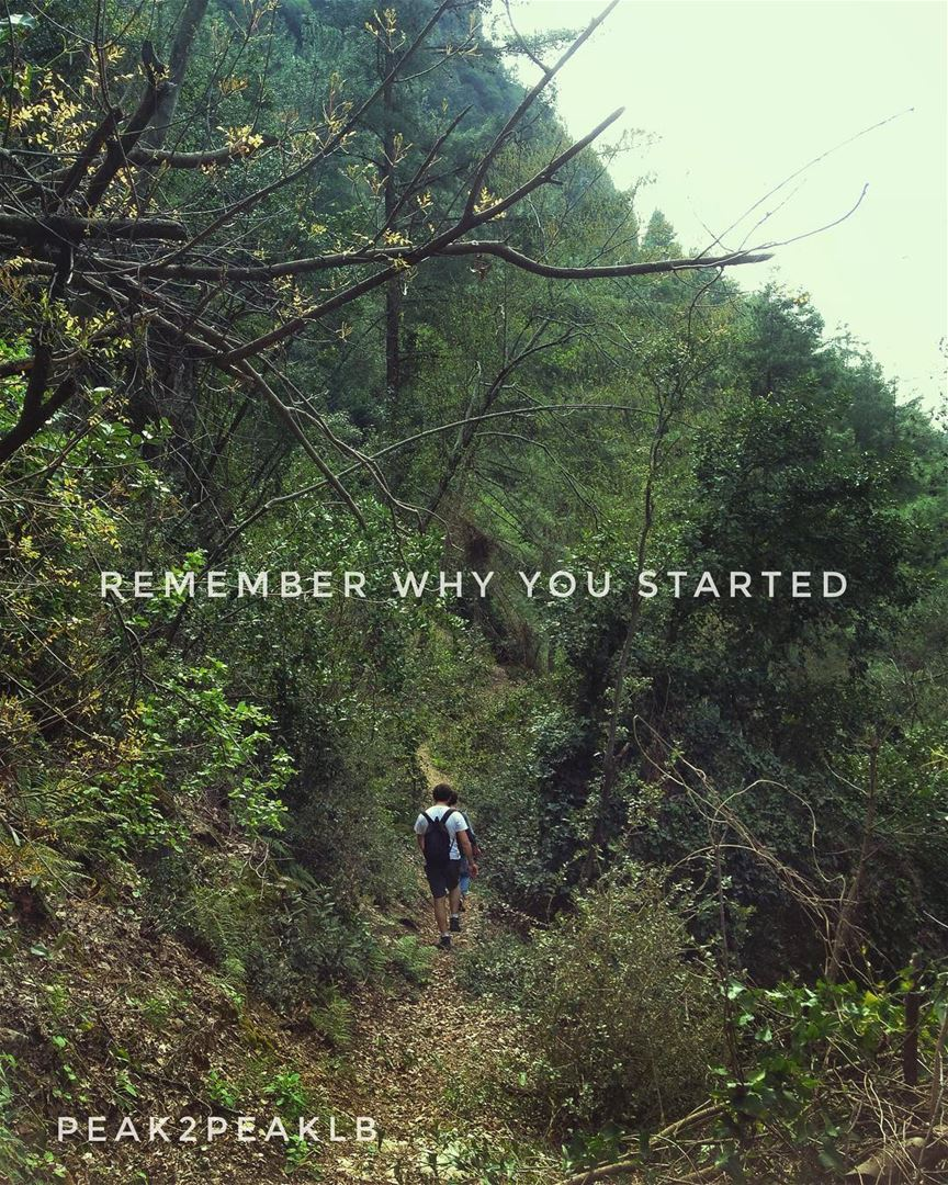What was the reason you first started hiking for? quote ...