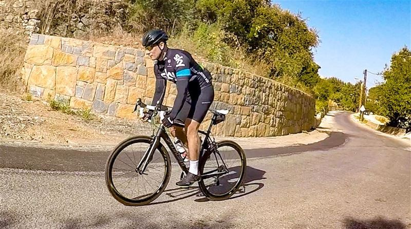 """Don't watch the clock; do what it does. Keep going'' 🌄🚵☀️ cycling ... (Mount Lebanon)"