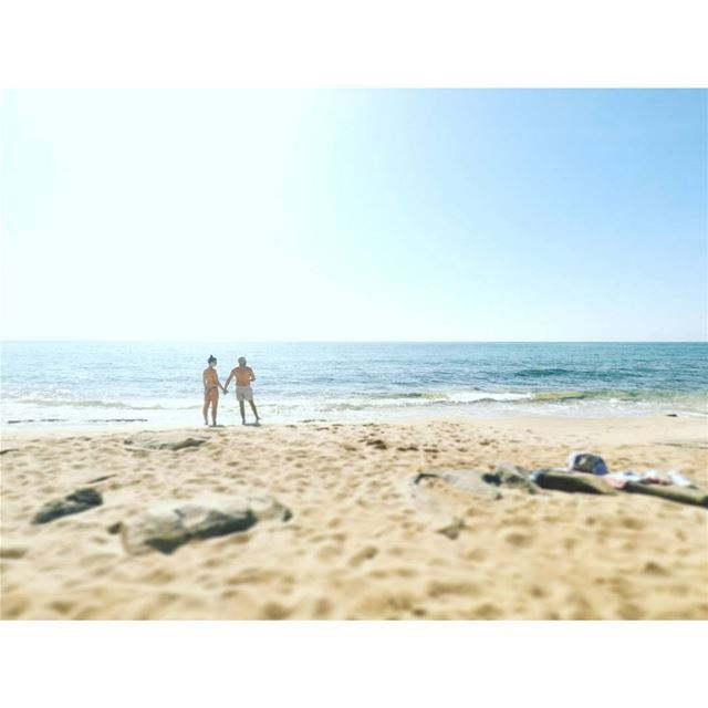 It was literally us and the extraordinarily clear  sea. A  gopro could do... (Naqoura)