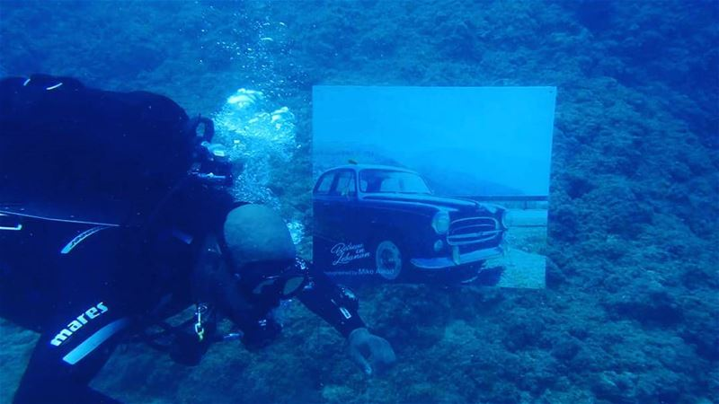 When photos taken by me are in an underwater exhebition  lebanon ... (Byblos - Jbeil)