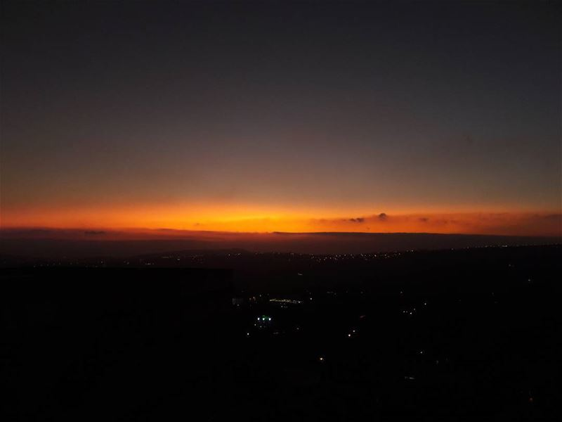 September's sunset ❤  sunset  today  september  sky  horizon  beautiful ... (Al Khiyam, Al Janub, Lebanon)