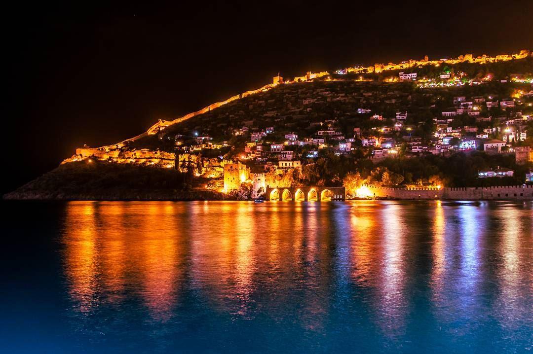 alanya old city turkey alanya castle oldcity old beach lights