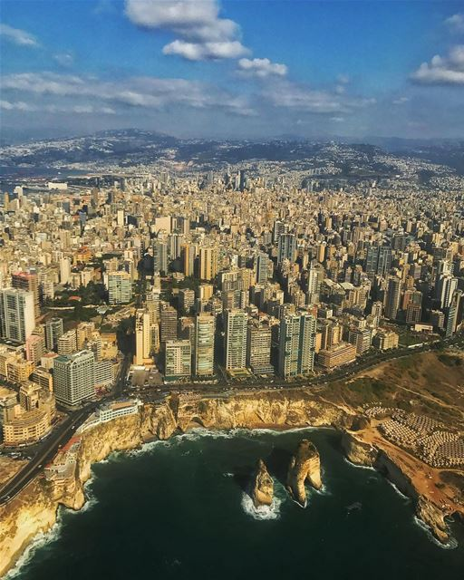Its only when you are flying above it that you realize how incredible it... (Beirut, Lebanon)