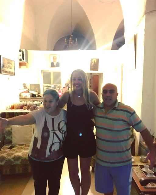 This is Antoinette and Abdo ...No ...I have never met them before but we... (Deïr El Qamar, Mont-Liban, Lebanon)