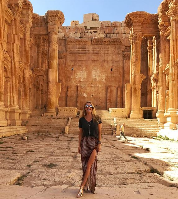 Amazing day roaming around the beautiful Baalbeck ruins & temples 🔱  ... (Baalbeck, Béqaa, Lebanon)