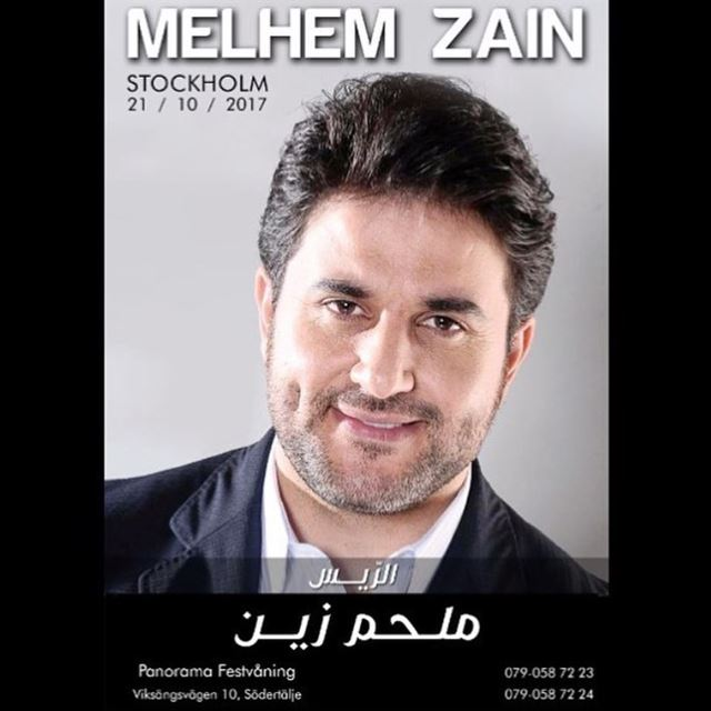 Sooon our Lebanese singer is here,  melhemzein  lebanese_in_sweden ...