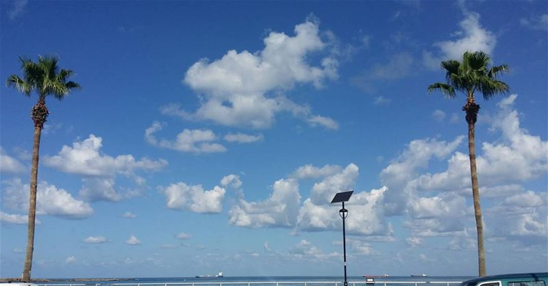 Good morning from saida  saida  lebanon  southlebanon  sea  sky  clouds ...