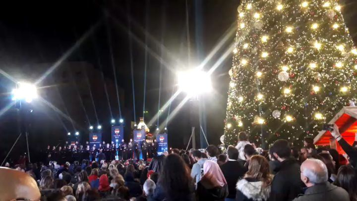 christmas  december  2017  lights  music  opera  beirut  lebanon ... (Martyrs' Square, Beirut)
