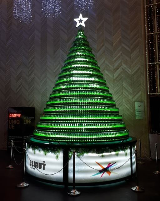 Christmas  tree  beer  bottles  lights  itstheseason  seasonsgreetings ...