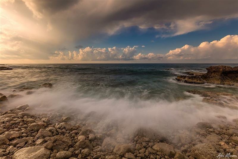 Splash.. lebanon  Beirut  sea  clouds  sunset  lebanese  photography ...