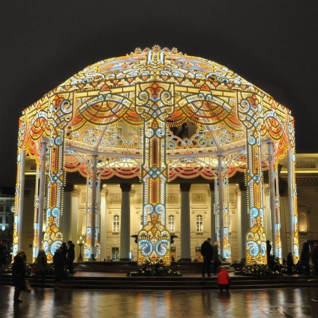 Amazing Christmas Decoration... The big theater in Moscow moscow ... (Большой театр России / Bolshoi Theatre of Russia)
