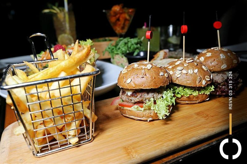 3 mini  Burgers and some golden  Fries before we hit the dance floor!... (Jackieo)