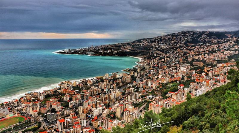 jounieh  lebanon  tourism  sea  sky  winter  rain ...