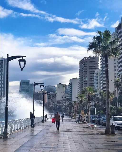 You must live in the present, launch yourself on every wave, find your... (Ain El Mreisse, Beyrouth, Lebanon)