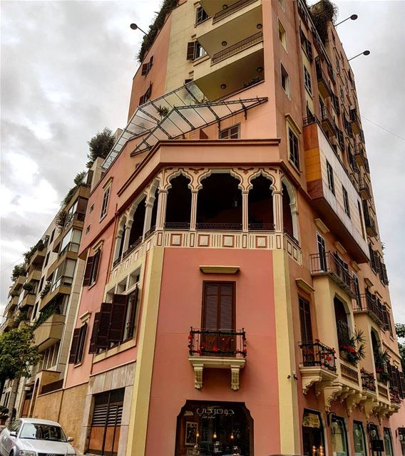 Great to see people renovating and protecting heritage buildings. This one... (Beirut, Lebanon)