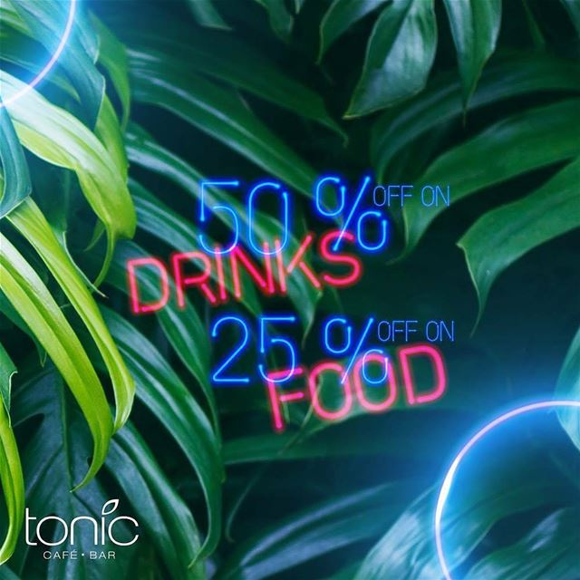 @toniccafebar -  We want you to come happy and leave happier!Join us... (Tonic Café Bar)