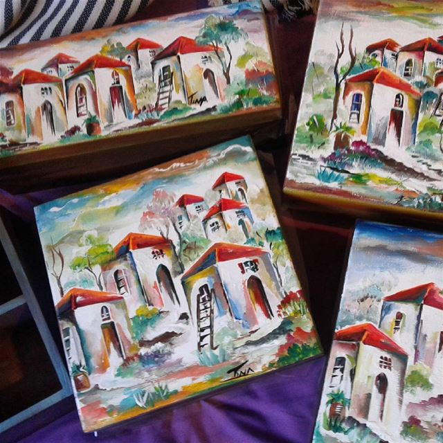Handpainted Tea boxes handmade  painted  wood  acrylic ...