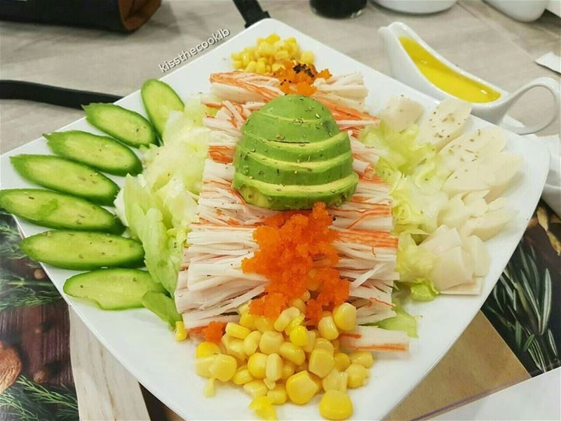 Crab salad anyone ? @gate_resto_cafe kissthecooklb  eaaaats  foodsmile ... (Gate Resto-Cafe)